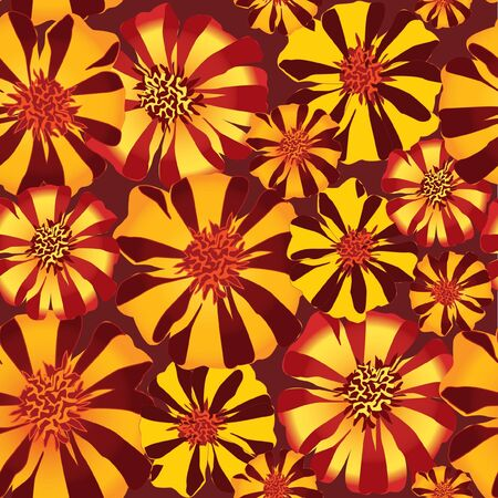 velvet ribbon: floral seamless background  pattern with  red and yellow flowers velvet ribbon