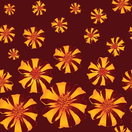 velvet ribbon: floral seamless background   pattern with falling red and yellow flowers velvet ribbon