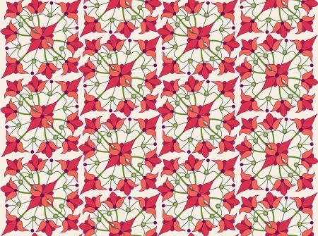 contrasting: floral seamless pattern  Filigree ornamental background Illustration