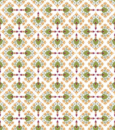 seamless pattern background with floral motif ornament  Stock Vector - 16139275