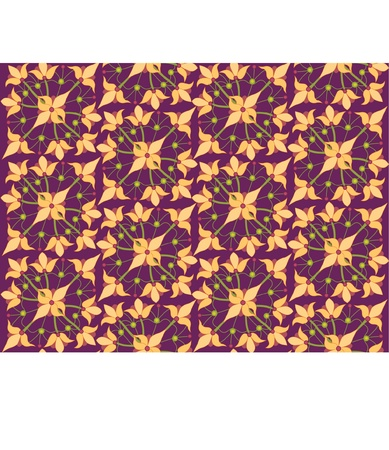 seamless pattern background with floral motif ornament  Vector