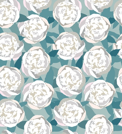 floral seamless pattern  white flower background Vector