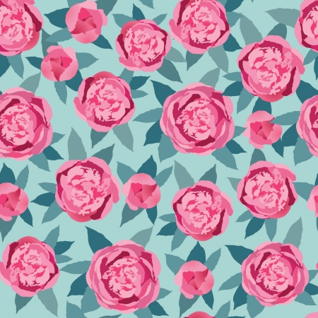 floral seamless pattern  crimson and pink flower background Vector