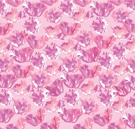 abstract floral seamless pattern with white and pink flower Stock Vector - 16140397
