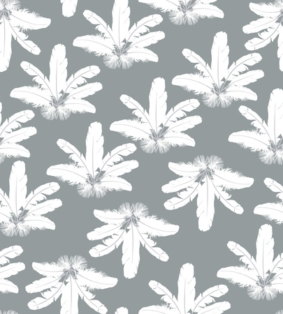 seamless background with white feathers  Stock Vector - 16228478