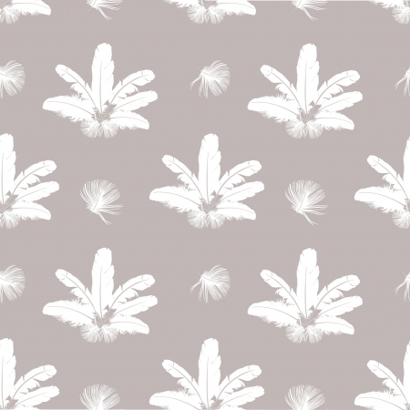 seamless background with white feathers Stock Vector - 16227991