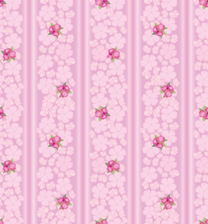 seamless pattern background with pink flower, carnations Vector