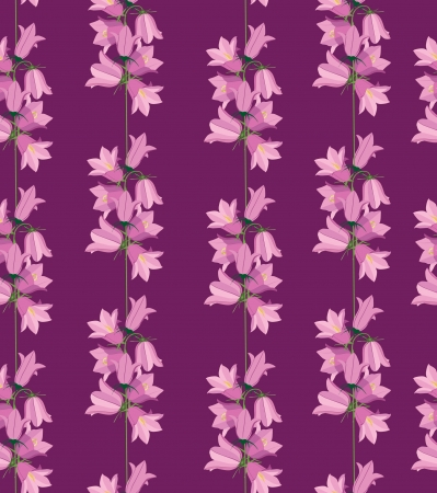 bluebell: seamless pattern background with flower bluebell