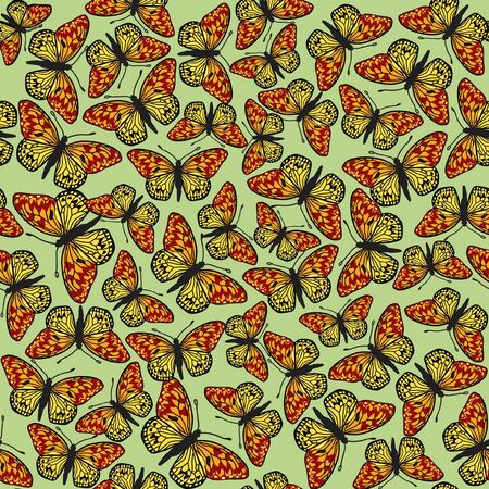 pastiche: butterfly seamless background Illustration