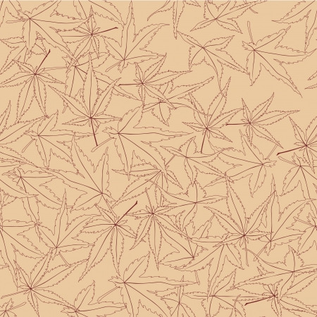 seamless pattern from autumn maple leaves on beige background Stock Vector - 16227978