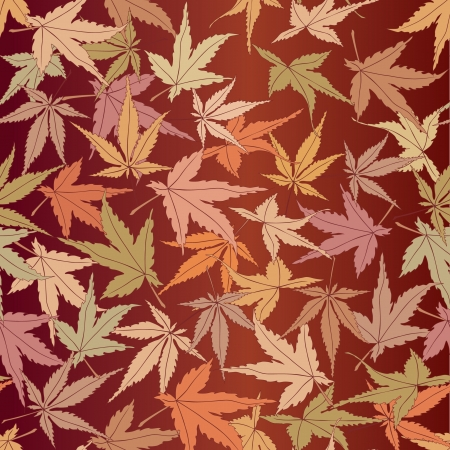 seamless pattern from autumn maple leaves on brown background Stock Vector - 16227986