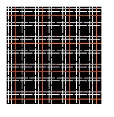 cotton wool: Checkered wool fabric seamless pattern Illustration