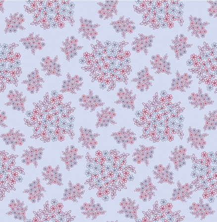 marriage bed: seamless pattern background with white gentle flowers  Illustration