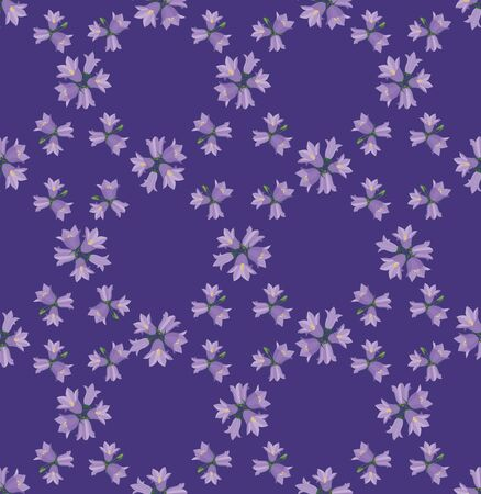 floral seamless pattern background with flower bluebells Vector