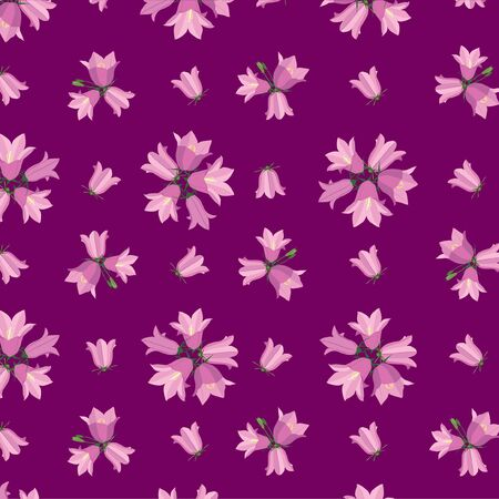 floral seamless pattern background with flower bluebell Vector
