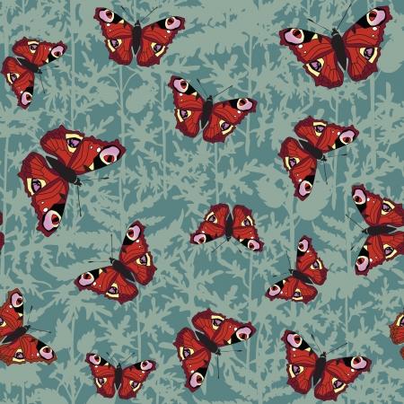 motif de fond transparente avec des papillons de couleurs Vecteurs