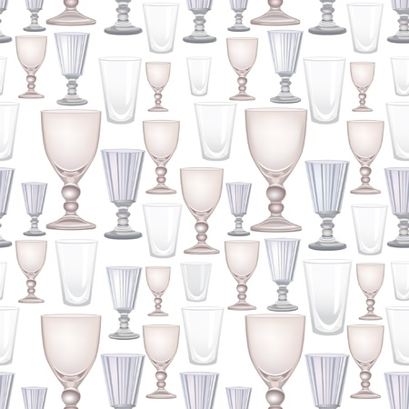 tall glass: Alcohol and drink glasses seamless background