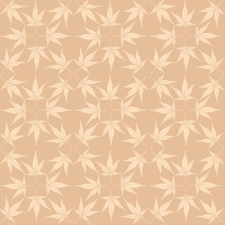 autumn ornament  seamless pattern with maple leaves  Vector