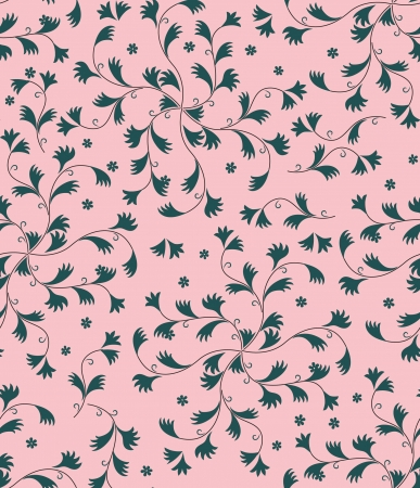 floral seamless pattern  leaves background  Vector