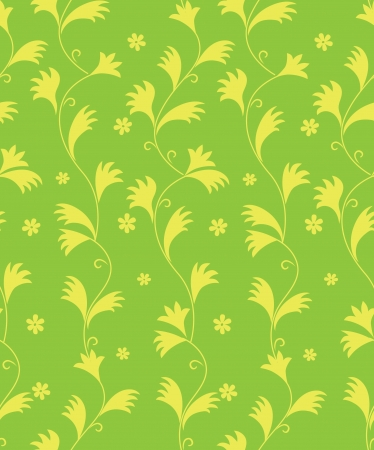 pale ocher: floral seamless pattern  leaves background