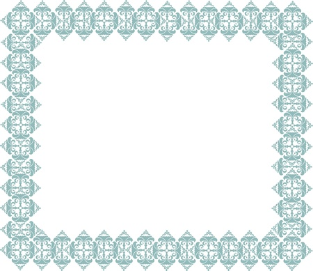 blue floral ornamental frame with copy space Vector