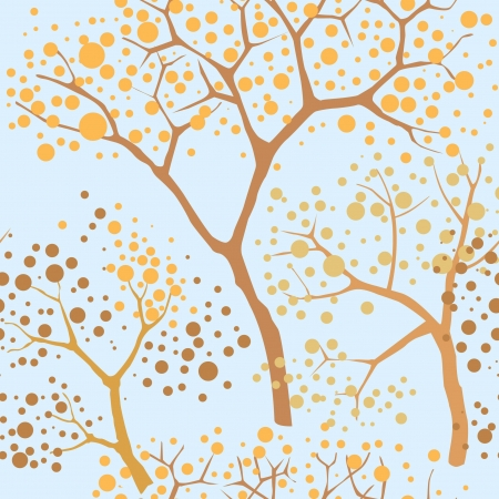 floral seamless background  Trees in a Chinese style Vector