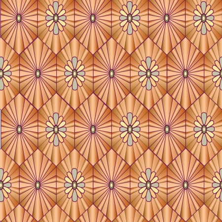 floral seamless pattern. background with geometric ornament  Vector