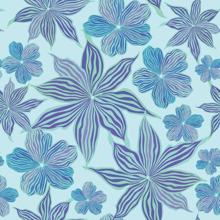 floral seamless vector background from lilac and blue flowers Stock Vector - 16229380