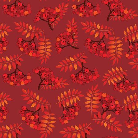 Rowan berry seamless texture  Autumn background Stock Vector - 16229309