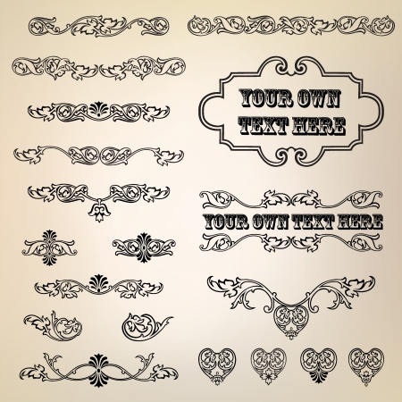 Calligraphic retro elements and page decoration  Vintage Vector Design Ornaments  Vector