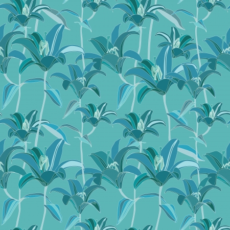 motton: floral seamless pattern with flowers lily  Abstract seamless background