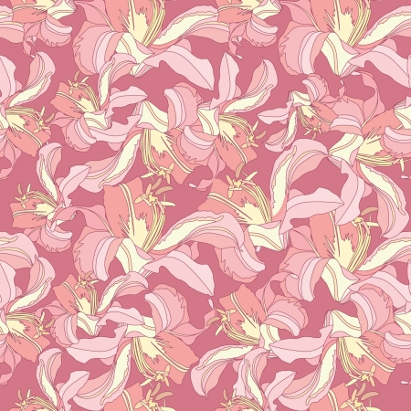 japanese motif: floral seamless pattern  gentle flower background