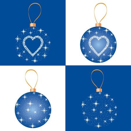Christmas snowflake decor collection  New year ball Stock Vector - 16229395