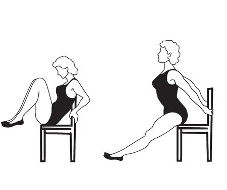 actividad fisica: Chica de la Mujer Los ejercicios se dedica a la actividad física
