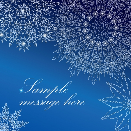 Snowflakes frame  Christmas greeting card, Vector  Vector