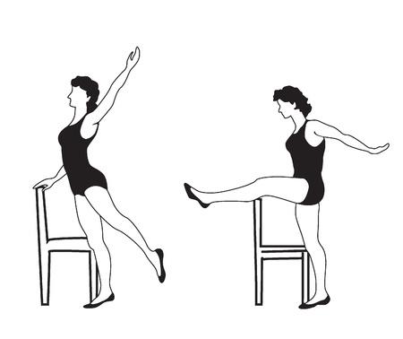 aktywność fizyczna: Dziewczyna Kobieta ?wicze? jest zaanga?owany w aktywno?? fizyczn?