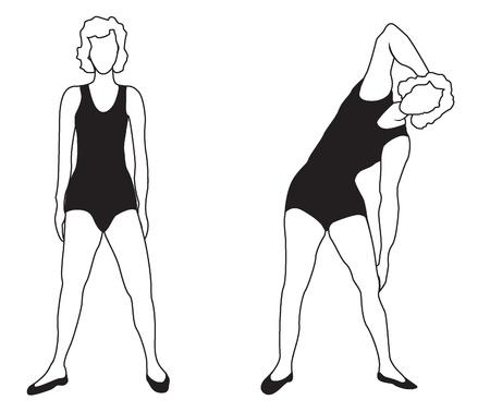educacion fisica: Chica de la Mujer Los ejercicios se dedica a la actividad física