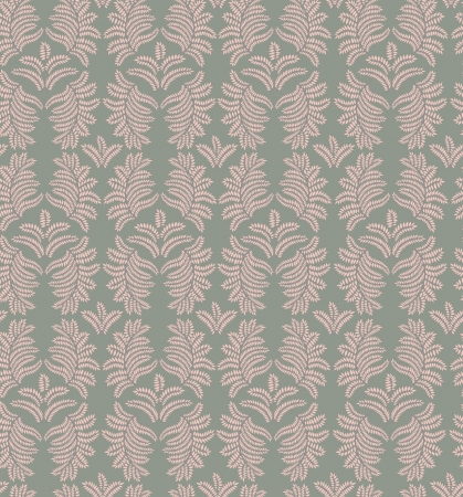 Floral pattern seamless  Flourish ornament on grey background Vector