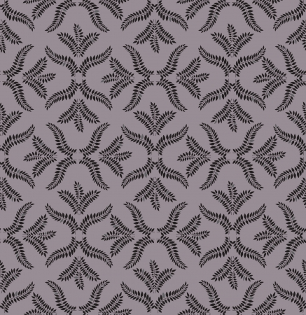 Floral pattern seamless  Flourish ornament on grey background Stock Vector - 16229383