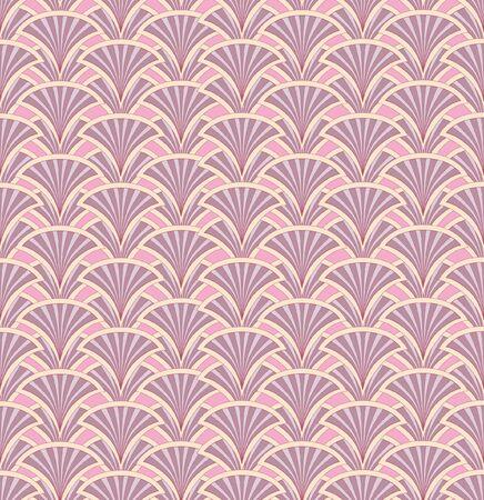 Floral pattern seamless  Fan vector motif  Pink background