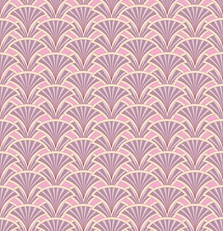 Floral pattern seamless  Fan vector motif  Pink background   Vector