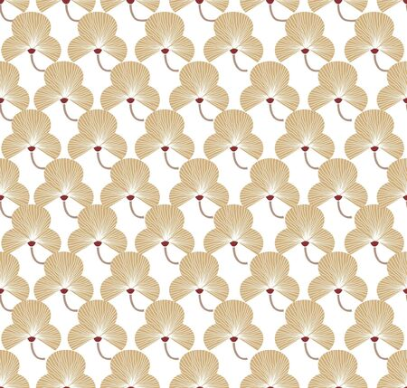 fantail: Floral pattern seamless  Flowers on white background  Fan vector motif