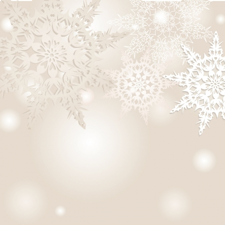 snowflakes vector background Stock Vector - 16229235