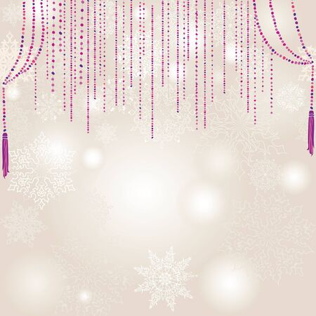 blink: snowflakes vector background  Christmas decor  Illustration