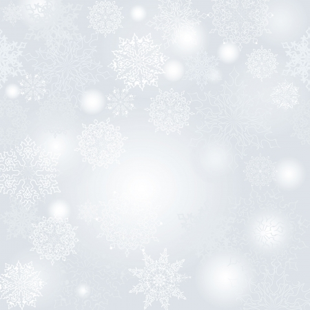 snow crystals: Christmas seamless vector background  New Year pattern   Illustration