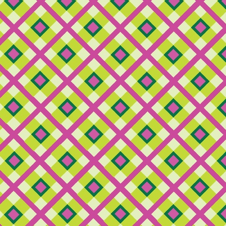 Checkered cotton fabric seamless pattern  Vector