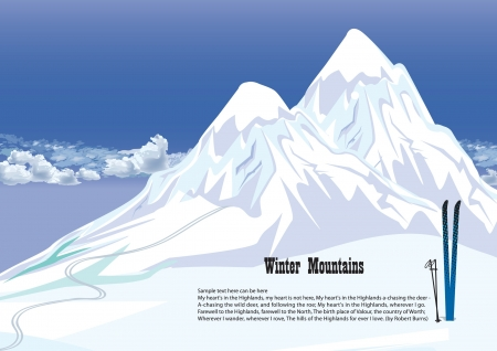 ski resort: Winter mountains