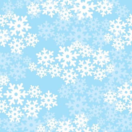 Snowflakes seamless pattern, snow background Stock Vector - 16229188