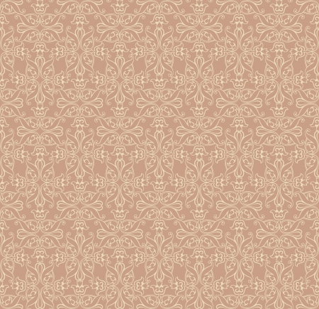 Retro seamless pattern for page decoration  Abstract floral background Vector