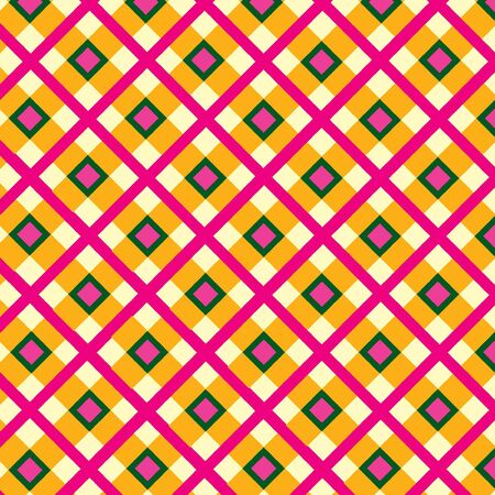 Checkered cotton fabric seamless pattern Stock Vector - 16423837